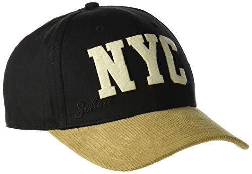 Schott NYC CAPJIMMY, Casquette de Baseball Homme, Multicolore (Black/Camel 9012), Taille Unique