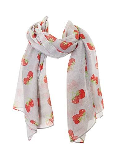 Pamper Yourself Now Licht grau Erdbeere schöne weiche Schal (Light Grey strawberry scarf Lovely soft scarf)