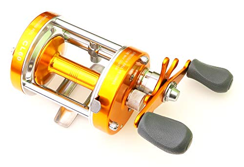 Ming Yang Reel CL60 Reel Baitcasting Reel Right Handed Saltwater Fishing Muskie Reel Fishing Gear Gold Conventional Reel
