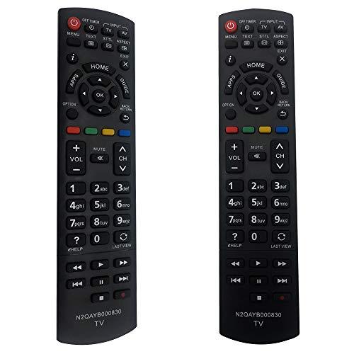 FOXRMT Reemplazo Mando Panasonic TV N2QAYB000830 para Mando a Distancia Panasonic Smart TV N2QAYB000830 Apto para Panasonic TX-L32EN63