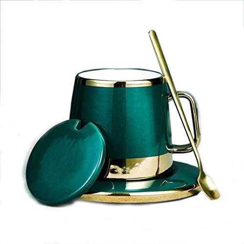 Mesa de té Conjuntos tetera, juego de té chino hecho a mano, porcelana tetera, tazas de té de cerámica creativa, Marcos Europea taza de café y platillo Set con tapa cuchara caja de regalo 1 juego de t