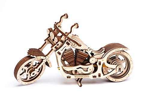 オートバイ(バイク) ゴム動力で動く木製立体パズル 3D Wooden.city CRUISER