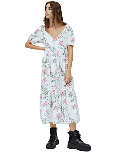 Pepe Jeans Verena Vestido Casual, Multicolor (0AA), Small para Mujer