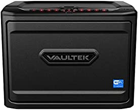 Vaultek MXi Wi-Fi and Biometric Safe High Capacity Handgun Safe Multiple Pistol Storage Smart Safe with Alerts to Smartphone Auto-Open Door and Rechargeable Battery (Biometric + WiFi)(Black)