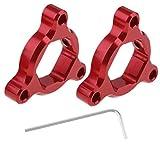 Ajustadores de Precarga de Horquilla Anodizados Hexagonales Suspensión CNC 14mm de Alumino - rojo