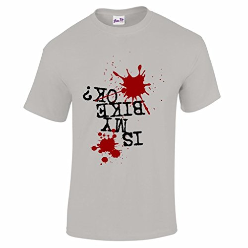 is My Bike Ok? Mountain Biking MTB Mens T Shirt-Grey-XL