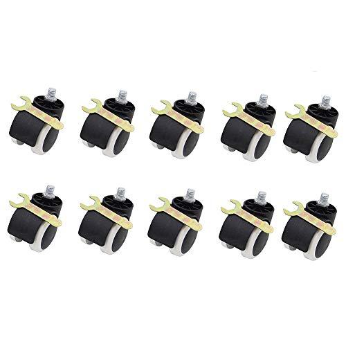 GINVF Prime Slipstick 2 Pouces Sol Protection Chaise de Bureau en Caoutchouc roulettes (Jeu de 10) Standard Tige Taille Silencieux roulettes (Color :