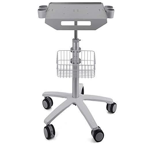Bisujerro Carrito Móvil Carrito Medico de Acero Carrito para Sistema de Escáner de Imágenes Carrito de Servicio Medico con Cesta de Laboratorio