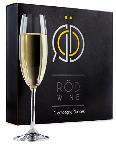 Set di Bicchieri da Vino Rosso - Calici in Cristallo di Titanio Senza Piombo, con Ampia Coppa da 650 ml. Calici da Vino Rosso a Stelo Lungo per una Ideale Esperienza di Degustazione - Perfetti per Com