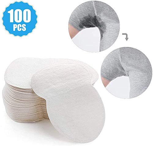 XXXVV Premium Armpit Sweat Pads [100 Packs] for Women and Men, Best Deodorant and Antiperspirant Alternative, Block Underarm Sweat and Odor, Comfortable Dress Guard/Shield