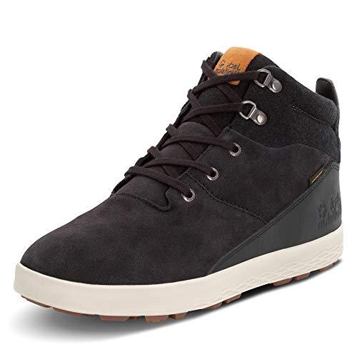 Jack Wolfskin Men's Auckland Wt Texapore Mid M Chukka Boot, Black/Beige, 10