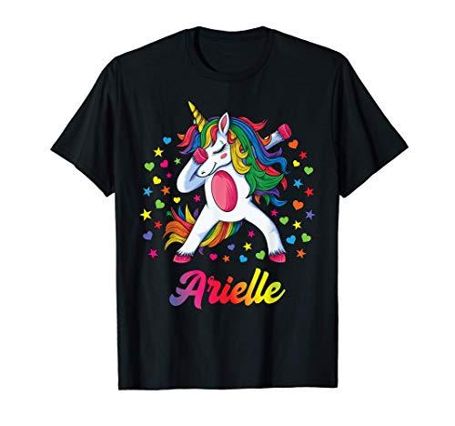 Arielle Nombre Personalizado Regalo Cumpleaños Unicornio Camiseta