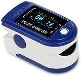 DAXGD Pulsossimetro da Dito, Saturimetro da Dito Portatile Professionale con Display LCD per Frequenza del Polso(PR) e La saturazione di Ossigeno(SpO2)