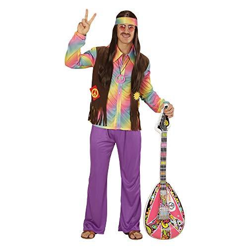 WIDMANN Disfraz 73344 ? Adultos Hippie Hombre, Camiseta, Chaleco ...