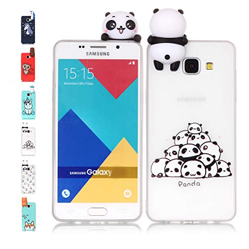 Universecase Cover Samsung Galaxy A3 2016, Custodia Samsung Galaxy A3 2016 3D Panda Squishy Kawaii Toy Animal, Silicone Case Antiurto Anti-Graffio Bumper Protettiva Caso