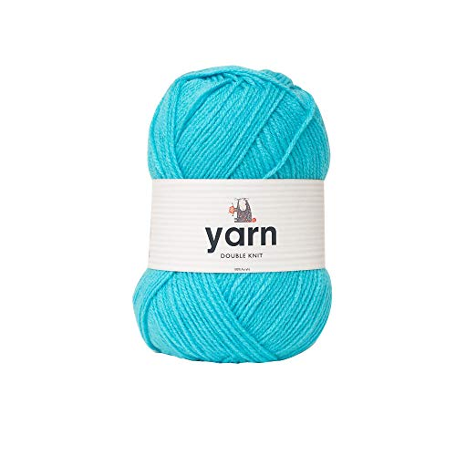Korbond Double-Knit Acrylic Hilo de Punto Doble, 100g, 100% acrílico, Azul (Aqua), 100 g