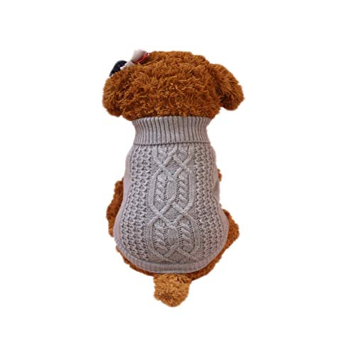 Bluelucon Hondenkleding, hond rolkraag hondenpullover wintermantel gebreide trui warm hondenjas sweater vest T-shirt kat indoor kostuum voor kleine medium groot