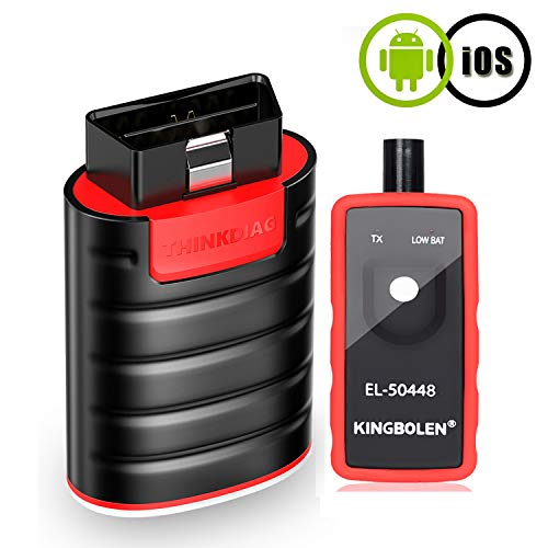 Thinkdiag Bluetooth OBD2 Scanner Bi-Directional Scan Tool Powerful Than Easydiag,Full System Scanner with 16 Reset Functions,ECU Coding,Live Data Stream Graph,Code Reader for iPhone & Android