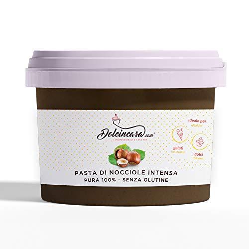Pasta di Nocciole Intensa Pura 100 % Senza Glutine 500 Gr per Gelati e Crema Pasticcera