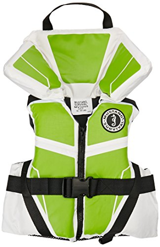 Mustang Survival Corp Lil' Legends 100 Child Life Vest, White/Apple Green