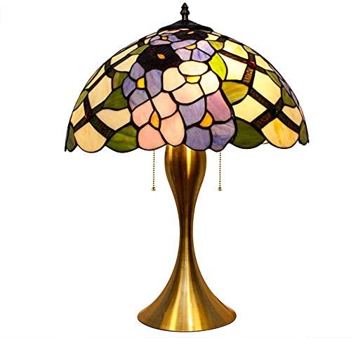 HAO KEAI Lámparas de Mesa Tiffany Lámparas de Mesa, Flores Modelo Elegante lámpara de Noche lámpara de Noche lámpara de Cama lámpara de Oficina Base en Art Deco Iron Art (Color : 40cm)