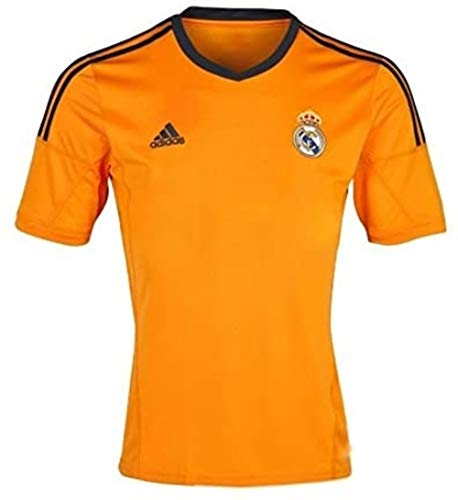 adidas Real Madrid Jersey 2013 2014 Away Shirt Orange Club Soccer Football No Sponsor Size XL Xtra Large