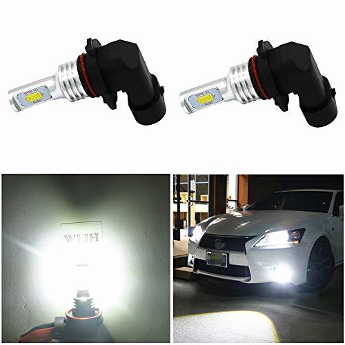 WLJH Lot de 2 ampoules LED 9006 HB4 pour feux de brouillard - Haute puissance - Puce CSP 3570 pour voiture, camion, DRL - Blanc 6000 K