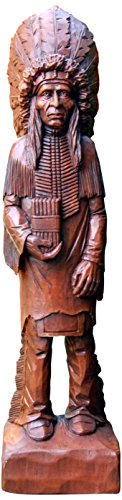 Hickory Manor House Cigar Store Indian Decorative Accessory