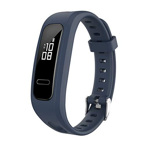 Correa de silicona para reloj, pulsera deportiva de repuesto para mujeres, hombres, Huawei Honor Band 4 Versión para correr, Huawei Band 3 / Banda 4e