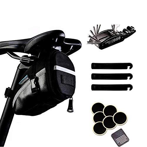 Tlyd Herramientas de Bicicleta Kits de reparación de Bicicletas 10 en 1 Que Incluyen Kits de Bicicletas y Kits de Herramientas Adaptadores de válvulas de Bicicleta y Kits de reparación de neumáticos