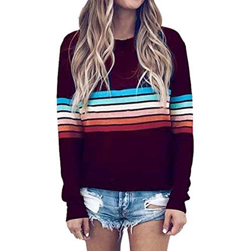 Frauen Langarm T-Shirt Pullover Frauen Herbst Casual Sweatshirt Rundhals Bluse Casual...