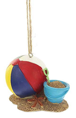 """MidWest 3"""" x 2.5"""" x 2"""" Beach Ball and Sand Bucket Christmas Ornament"""