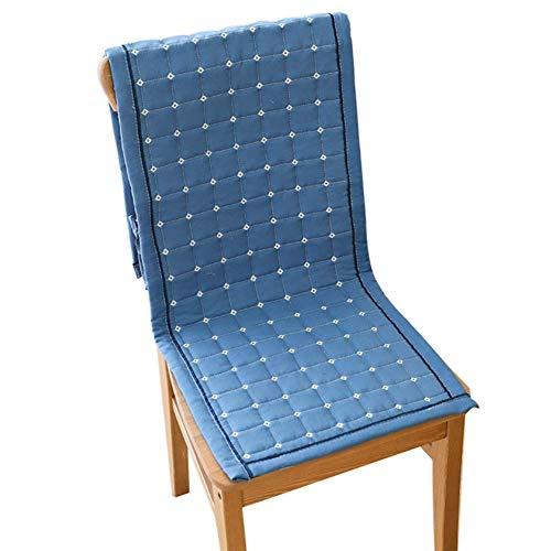 XHNXHN Juego de cojines acolchados para sillas de comedor, cojines de color sólido, no deslizantes, cojines de banco para interiores y exteriores, cojines de asiento largos, color azul, 45 x 135 cm