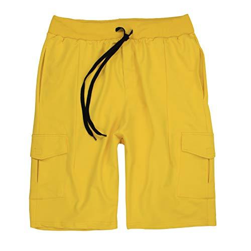 Lavecchia LV-2011 Cargo-Bermuda - Camiseta de manga larga para hombre amarillo XXXXXL
