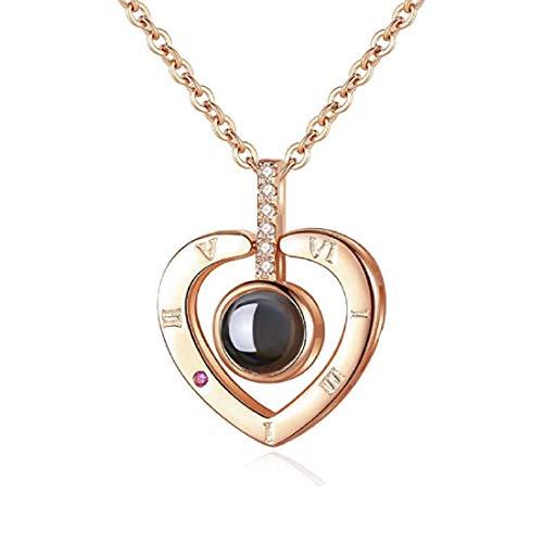 QueenDer Collar clavícula Amor Memoria Circón Proyección