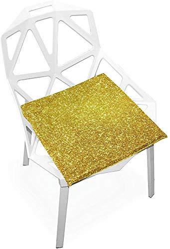Mesllings - Cojines de silla para exteriores, diseño abstracto, de espuma viscoelástica suave, antideslizante, para sillas de cocina, escritorio, 38 x 35 cm, para sillas de cocina