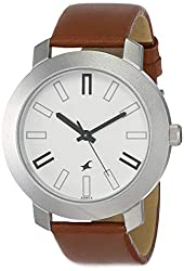 Casual Analog White Dial Watches for Men -NK3120SL01
