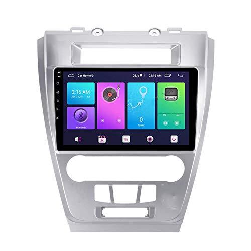 Android 10.0 Car Stereo Double Din Compatible con Ford FUSION MENDEO 2009-2012 Navegación GPS Unidad principal de 9 pulgadas Reproductor multimedia MP5 Receptor de video y radio con 4G WIFI DSP Carpl