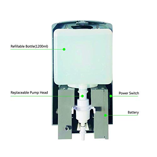 Der an der Wand montierte automatische Händedesinfektionsspender vom Typ Touch kann für die manuelle Desinfektion auf Wasserbasis, den Infrarotsensor mit großer Kapazität und 1200 ml verwendet werden