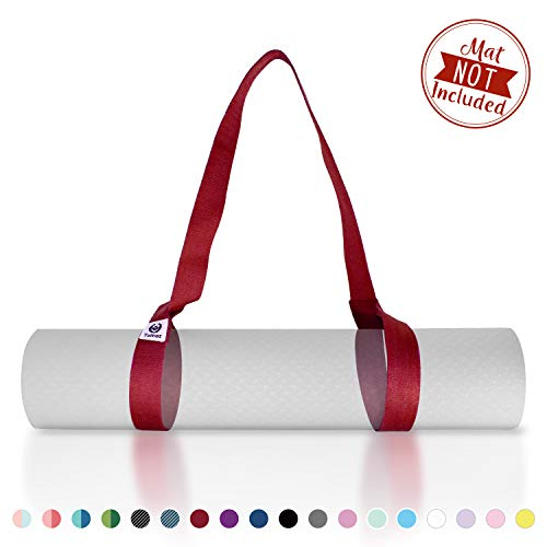 Tumaz Yoga Mat Strap - Stretch Strap & Mat Carrier, (15+ Colors, 2 Sizes Options) with Extra Thick, Durable and Comfy Delicate Texture - The Best Carrier for Yoga Mat, Exercise Mat [Mat NOT Included]