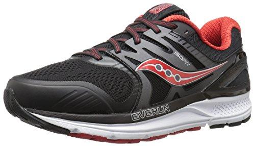 Saucony Men's Redeemer ISO 2 Running Shoe, Grey Black, 7 W US