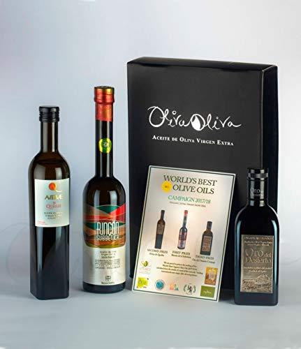 Best 3 Olivenöl ökologisch in der Welt 2018; Abbae de Queiles, rincon de la subbetica, Oro del Desierto
