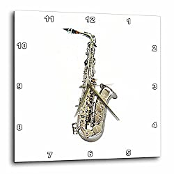 3dRose dpp_4112_3 Saxophone-Wall Clock, 15 by 15-Inch