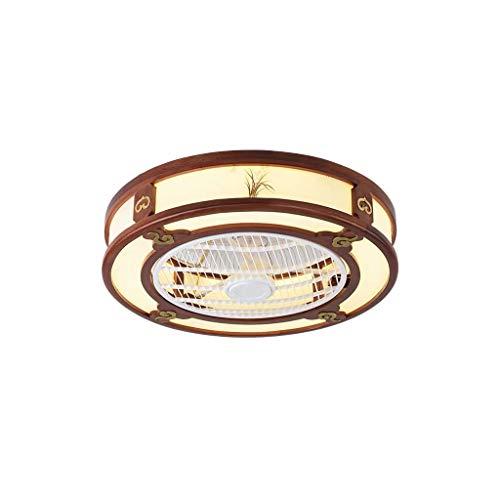 HLD Plafondlamp, Chinese onzichtbare led, stil, voor woonkamer, eetkamer, slaapkamer, met elektrische ventilator, plafondventilator, licht