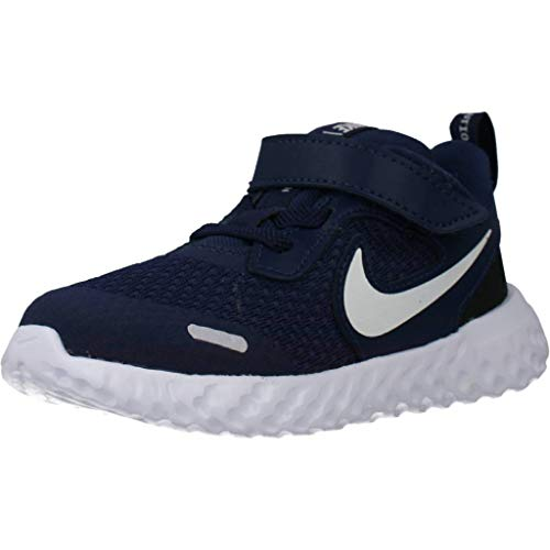 Nike Unisex-Kinder Revolution 5 (TDV) Sneaker, Midnight Navy/White-Black, 22 EU