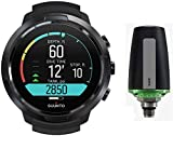 SUUNTO D5 Scuba Diving Computer with USB Cable PVD Coated & Tank Pod - All Black