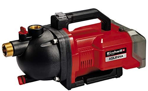 Einhell AQUINNA Power X-Change, Bomba de jardín a batería (2 x 18V, interruptor ECO de 2 escalones, tornillo de entrada y salida de agua, protección térmica, sin baterías ni cargador)