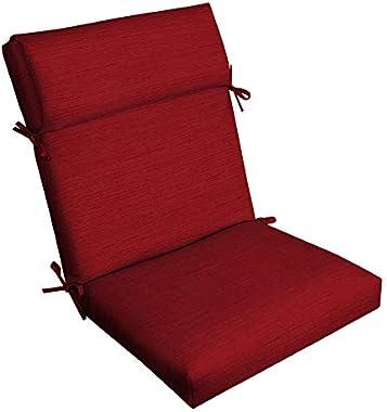 Allen roth 1 Piece Cherry Red High Back Patio Chair Cushion