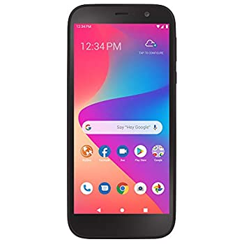 Total Wireless Blu View 2 4G LTE Prepaid Smartphone  Locked  - Black - 32GB - Sim Card Included - CDMA