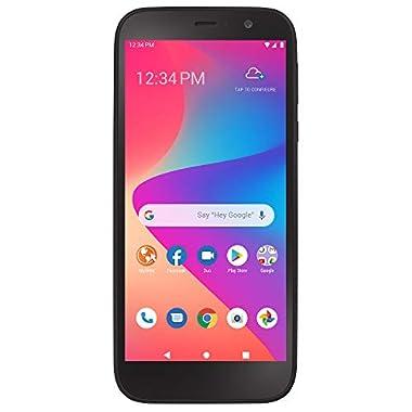 Total Wireless Blu View 2 4G LTE Prepaid Smartphone (Locked) – Black – 32GB – Sim Card Included – CDMA